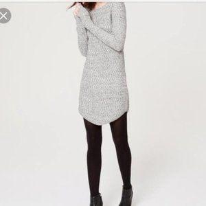 Loft Knit Gray Sweater Dress Size LP